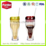 wholesale double wall plastic beer sippy cup