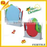 4pcs plastic color coded CHRISTMAS design index chopping board gift set , 4pcs knife shelves