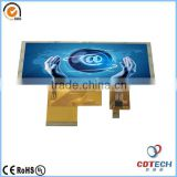 "Bar Type Color TFT LCD screen China supplier 4.6"" inch 800*480 flexible transparent lcd display with touch panel"
