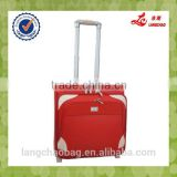 High Quality TSA Lock Silk Lining Real Push Aluminum Trolley Durable Wheel Boarding Luggage Bag