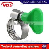 Stainless steel clamps PVC plastic tube quickfist rubber clamp