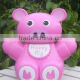 BEAR SHAPE MONEY POT 4ASST.