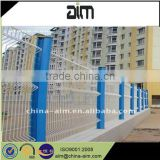 3 bends pvc coated welded wire mesh fence
