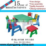 2015 Commercial High Quality Kids Furniture Plastic Kindergarten Table                                                                         Quality Choice