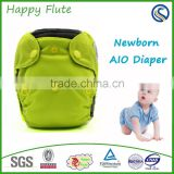 Happy Flute Bamboo liner diaper newborn gusset cover cloth diapers cover newborn