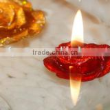 floating candle with flower shape