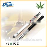 Buttonless touch pen battery glass vape cartridge for cbd thc oil 510 thread dual coil tank