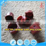 Custom made red PTFE plastic plugs for pipe or tube