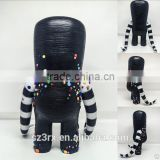 black body big head body, 6 inch height resin sculpture with colorful point,make my own design monster sculpture