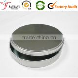 Small thin round cylinder plain custom metal tin box for mint candy eye cream olive oil various packaging box                                                                                                         Supplier's Choice