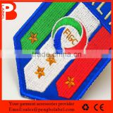 Hot Sell Professional Customized 3D Self-adhesive Embroidery Patches for Clothing