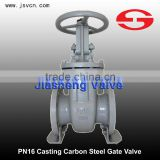 PN16 WCB Casting Carbon Steel Gate Valve Hand Operation