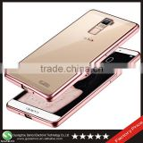 Samco Transparent Electroplating Soft TPU Gel Cell Phone Case for OPPO R7 Plus