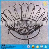 Factory wedding fruit basket decoration, metal wire fruit basket, wire fruit basket                                                                         Quality Choice