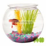 2014 Hot Selling Round Fish Bowl With Eco- Freindly Plastic Fish Bowl For Aquarium Plastic Fish Bowl