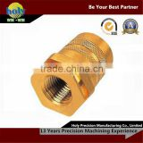 Custom brass CNC turning parts, High Precision CNC turning machined brass part, Copper gears CNC turning piece