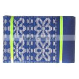 Wholesale latest fashion royal blue nigeria aso oke fabrics wholesale overseas gele headtie