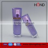 Acrylic Plastic Type and Personal Care Industrial Use Cosmetic square body mist bottle