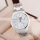 Gold watch Full stainless steel woman fashion dress watches men brand name Geneva quartz watch best quality