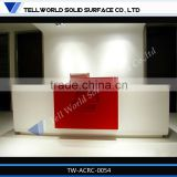 modern elegant style commercial aritificial stone custom made reception desks