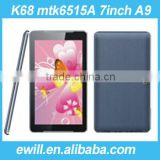 7 inch metal 2G phone call tablet pc K68 MTK6515A 512MB RAM 4GB ROM Cortex-A9 Processor 1.2Ghz
