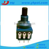 jiangsu 17mm high power 10A rotary dimmer potentiometer 5 pin with switch
