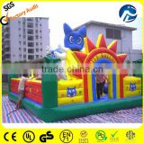 blue cat inflatable city bouncer
