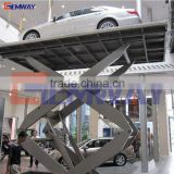 Good quality in-ground upright small platform scissor lift for sale