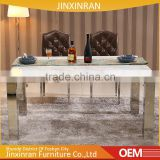 Home furniture 6 seater marble dinning table set