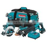 6 Piece Power Tools 18V Cordless Combo Kit Tool Driver Drill Circular Saw Makita