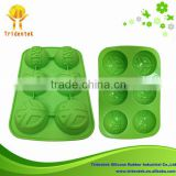 2015 China Supplier Eco-friendly Kitchen Ware Festival Lego Minifigures Silicone Cake Mold