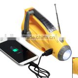 portable solar led indoor lamp; outdoor spot light;emergency rechargeable led light with fm/am radio