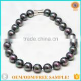Latest design beads rainbow black south sea shell pearl beads necklace