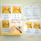 NO ACETONE NAIL POLISH REMOVER WET WIPES, CE CERTIFICATION