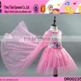 2015 latest design original selling baby Princess dress high quality double lace kids girl performing dress
