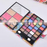 Professional multi-color wallet design eyeshadow blush powder lip gloss cosmetic makeup palette