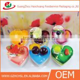 CH55-827133 clear heart shape jelly cup disposable transparent plastic jelly cup box dessert cup wholesale