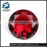 Decorative round brilliant cut wholesale red color loose crystal glass stones for jewelry