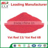 Chemical powder Vat Red 13 Vat Dye Red 6B synthetic organic dyestuffs