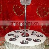 LAZY SUSAN WITH BOWLS ATTACHMENT DECORATED CENTERPIECE AND CRYSTAL BALL