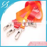 New attractive high quality thick lanyard double hook lanyard with lobster claw