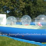 Inflatable water football field /inflatable water soccer field/Inflatable water pool for water walking ball