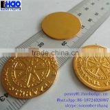 Zinc alloy metal custom cheap replica coins,round metal souvenir coin,3D embossed fake gold coins