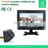 Waterproof car backup camera for truck with 7 inch TFT LCD Screen