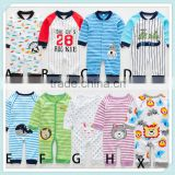 Baby Girls&Boys Long Sleeve Cotton Romper Infant Kids' Spring/Autumn Playsuit Toddler Baseball EmbroideryPrint Jumpsuit