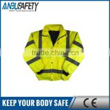 100% polyester mesh fabric reflective yellow safety vest en471