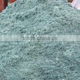 Online amorphous calcium aluminate for steel making and underground construction