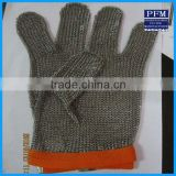 stainless steel mesh hand safty cut resistant chain mail gloves for buthcer