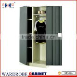 Steel two-door clothes cupboard design