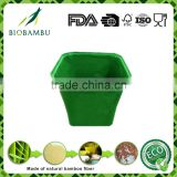 OEM available Eco-friendly Traditional bamboo fiber flower pots